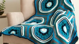 Stitch, Stop & Roll Crochet Afghan Pattern