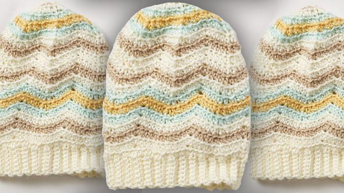Crochet Zig Zag Hat Pattern