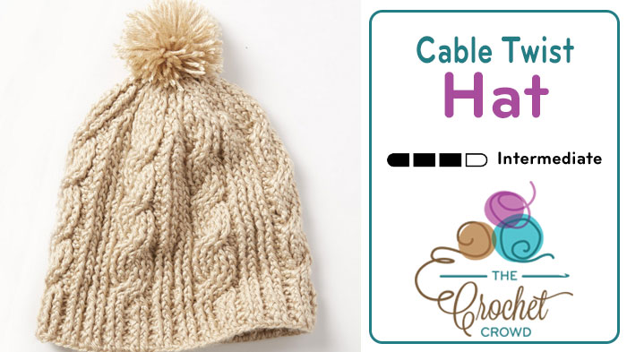 Crochet Cable Twist Hat + Tutorial