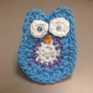 Crochet Owl, Crocheted by Jeanne Steinhilber