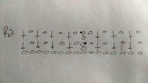 Crochet Piked Cowl - Crochet Diagram
