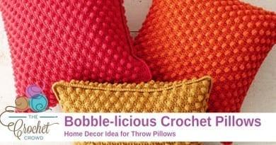 Crochet Bobble-licious Pillow Pattern