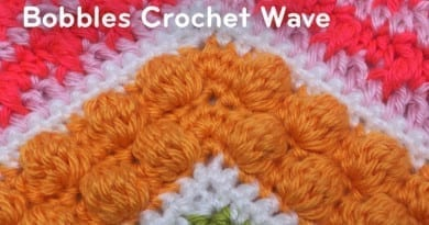 Bobbles Stitch Crochet Wave Pattern