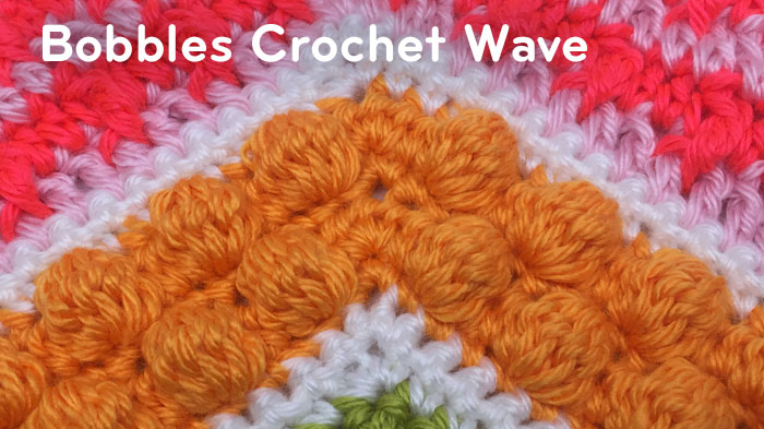 Bobbles Stitch Crochet Wave Pattern