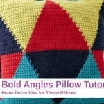 Crochet Bold Angle Pillow + Tutorial