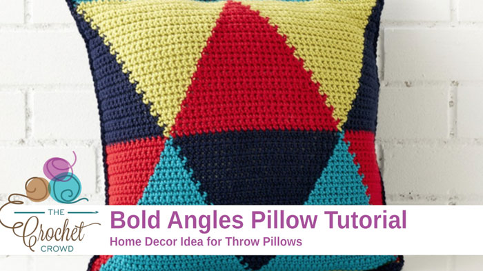 Crochet Bold Angles Pillow Pattern