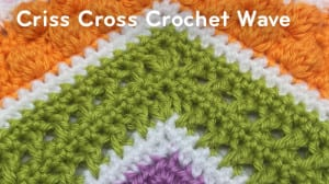 Criss Cross Crochet Wave Pattern