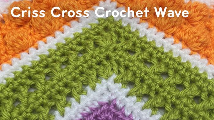 Criss Cross Crochet Wave Pattern