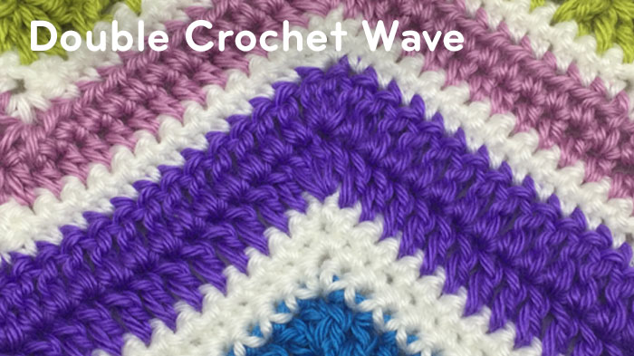How to Double Crochet A Wave Afghan + Tutorial