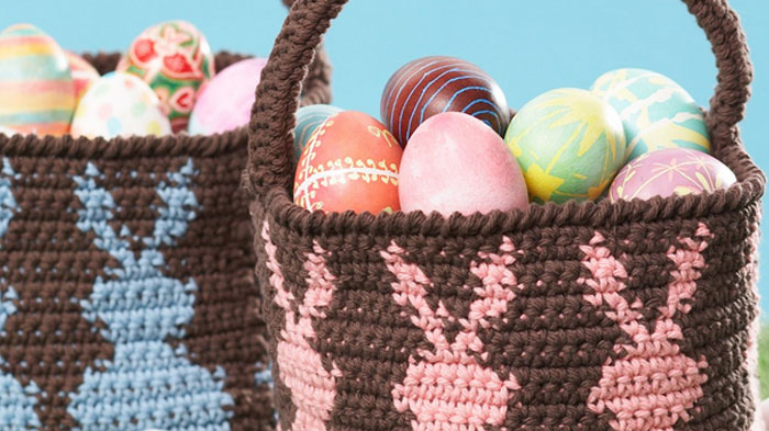 Crochet Easter Baskets Pattern