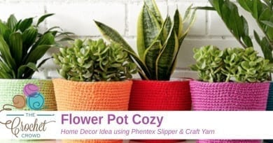 Crochet Flower Pot Cozy Pattern