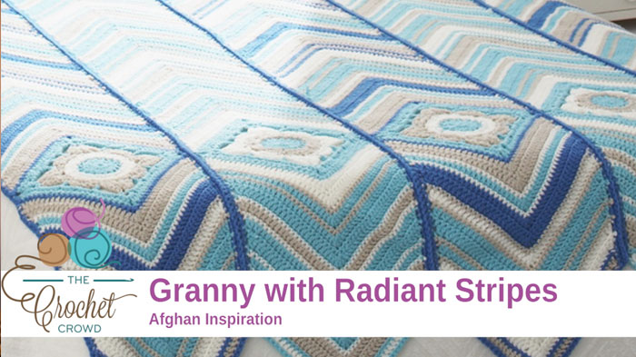 Crochet Granny with Radiant Stripes Pattern