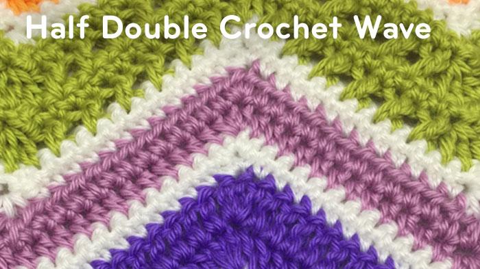 Crochet HDC Wave Afghan Pattern