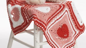 Crochet Heart Squares & Afghan Pattern