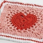 Heart Squares & Afghan + Tutorial