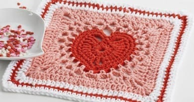 Crochet Heart Squares & Afghan Pattern