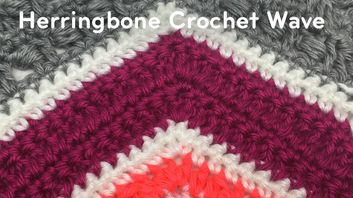 How to Crochet Herringbone Stitch Wave + Tutorial | The Crochet Crowd