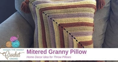 Mitered Granny Pillow Crochet Pattern