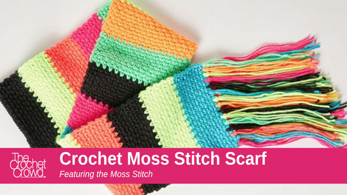 How to Crochet A Moss Stitch Scarf + Tutorial | The Crochet