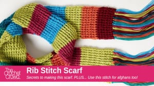 Crochet Rib Stitch Scarf Pattern