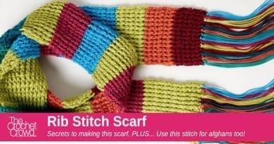 Crochet Rib Stitch Scarf Pattern