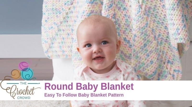 Crochet Round Baby Blanket