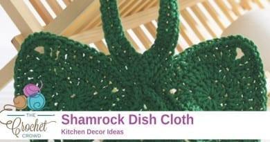 Crochet Shamrock Dishcloth Pattern
