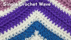Single Crochet Wave Pattern