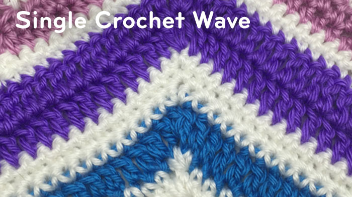 How To Double Crochet A Wave Afghan Tutorial The Crochet Crowd