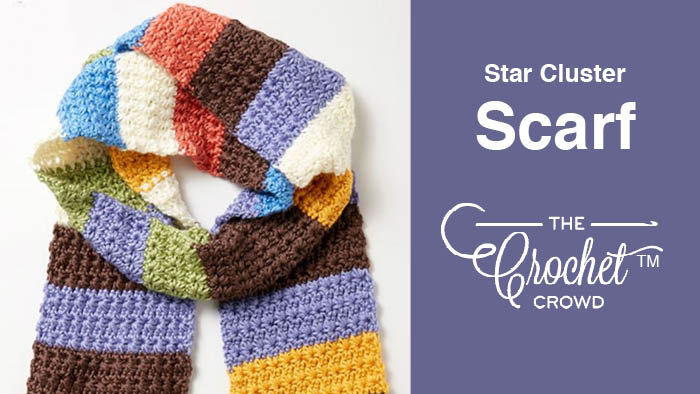 Crochet Star Cluster Scarf