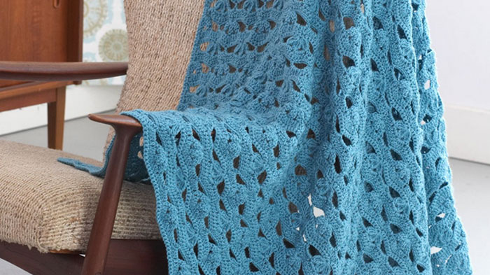 Crochet Light Airy Afghan Customizable The Crochet Crowd Simple Afghan Patterns