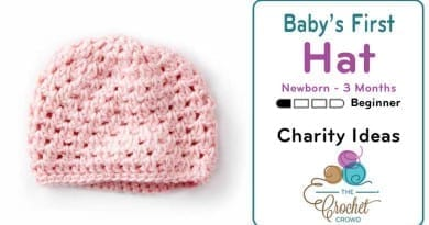 Crochet Baby's First Crochet Hat, Up to 3 Months Pattern