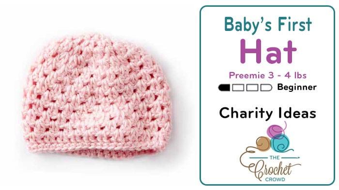 Crochet Baby's First Crochet Hat, Preemie Pattern