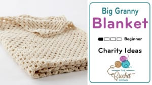 Crochet Big Granny Square Blanket Pattern