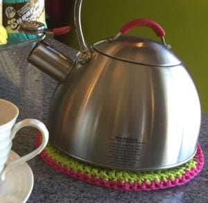 Cotton under Kettle with Boiling Water