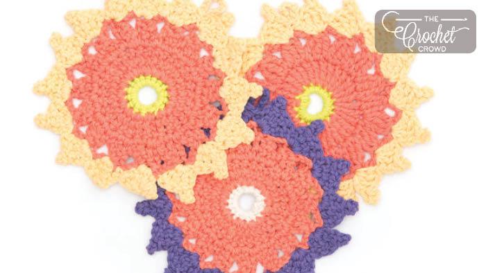 Crochet Dahlia Dishcloth Pattern + Tutorial