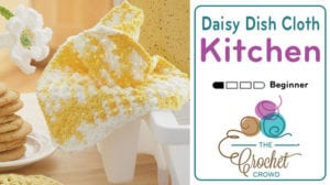 Crochet Daisy Dishcloth