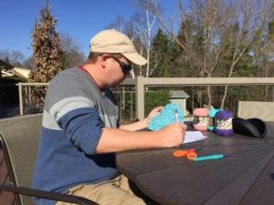 Mikey Designing Crochet Mandalas