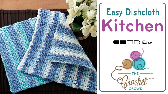 Crochet Easy Dishcloth Tutorial The Crochet Crowd
