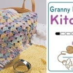 Crochet Easy Granny Dishcloth + Tutorial