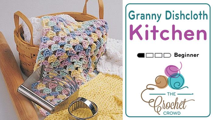 Crochet Easy Granny Dishcloth Pattern
