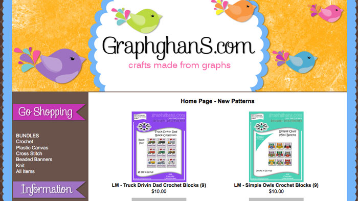 Graphghans.com Custom Crochet Graph Service