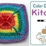 Crochet Over the Rainbow Dishcloth + Tutorial