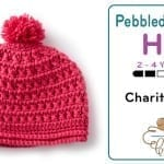 Crochet Pebble Texture Hat 2 - 4 Years Old + Tutorial