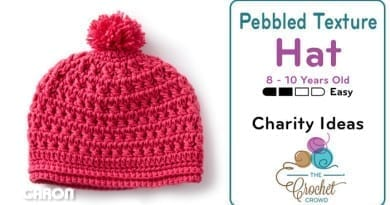 Crochet Pebbled Texture Hat for 8 - 10 Year Olds Pattern