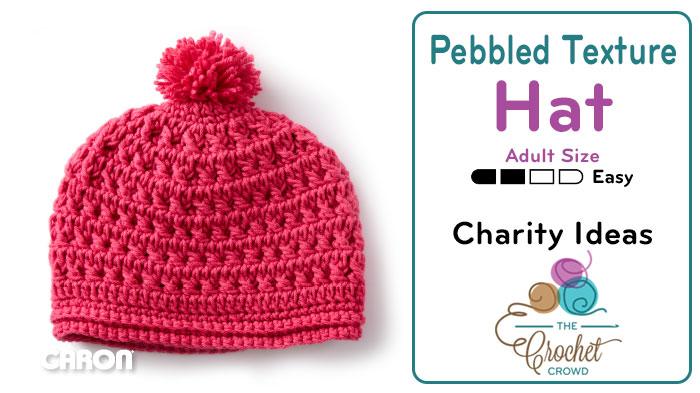 Crochet Pebbled Texture Adult Size Hat + Tutorial