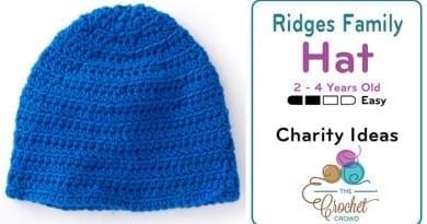 Crochet Ridges Family Hat 2 - 4 Years Old Pattern