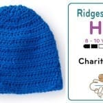 Crochet 8 - 10 Years Old Family Ridge Hat + Tutorial