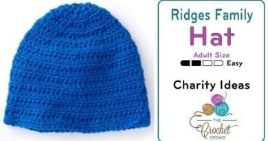 Crochet Ridges Family Hat Adult Pattern