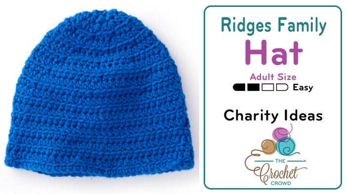 Crochet Ridges Family Hat Adult Pattern